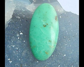 Chrysoprase Gemstone Cabochon,42x21x4mm,5.63g