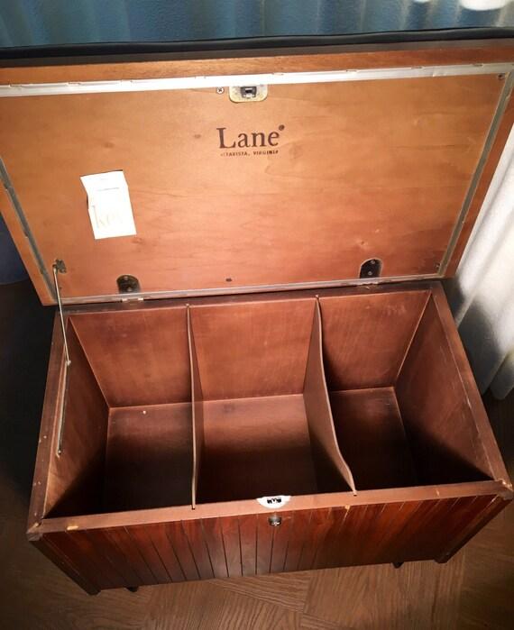 Vintage Lane Vinyl Record Cabinet Lp's Cedar Interior Key