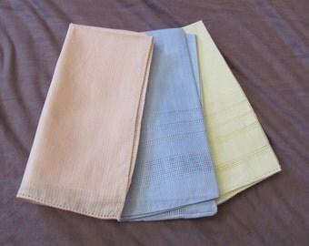 Lot of 3 Colored Vintage Antique Handkerchief Hankies Unused (Lot 16Z)