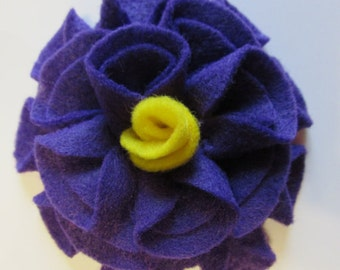 Add a Felt Flower with yellow center to any Sleep Mask or Neck Wrap- Dark Purple