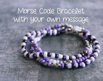 Personalized Bracelet - Hidden Message Bracelet - Morse Code Jewelry - Custom Name Bracelet - Prayer Bracelet - Secret Message Jewelry