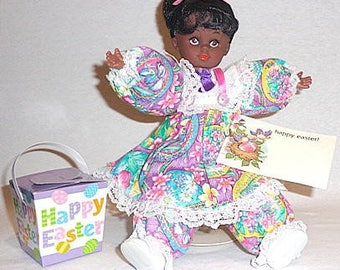 Meeka, OOAK African American Black collectible baby doll