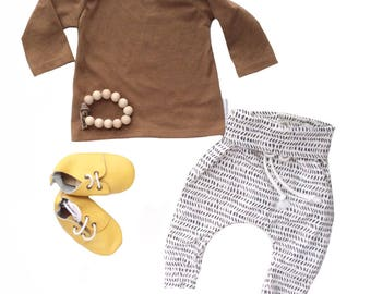 Baby boy coming home outfit Newborn boy clothes Hipster boy clothes Hipster baby outfit Take home boy outfit Baby joggers monochrome baby