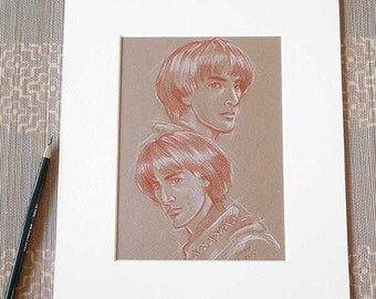 Amrod and Amras *matted drawing*