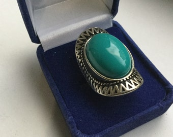 Silver and turquoise ring    VJSE