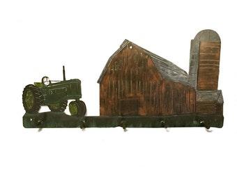 Farm Coat Rack | Tractor & Farm Decor | Tractor Wall Decor| Tractor | Tractor Decoration | Barn Decor | Farmhouse Decoration | Tractor Decor