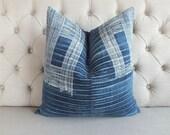 """20""""x20"""" Vintage Batik Hemp, Cushion Cover, Tribal Throw Pillow Case, Decorative Cushion cover, Sofa Cushions"""