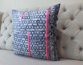 Indigo Batik Pillow Cover- Handmade Batik Fabric,Decorative Cushion,Throw Pillow,Decorative Pillow