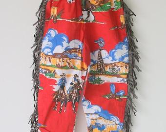 1970s RETRO PANTS....size 24 months 2T....bell bottoms. disco. children. kids. cowboy. retro. groovy. funky. 70s kids. costume. fringe.
