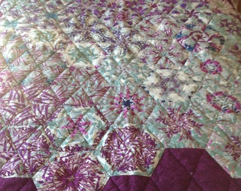 Purple passion stack andwack quilt