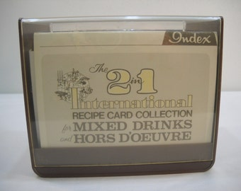 Vintage Recipe Card Collection For Mixed Drinks And Hors D'oeuvre 1977 FREE SHIPPING