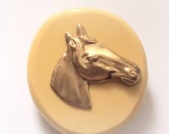Horses Head flexible silicone mold/ chocolate mold/ candy mold/