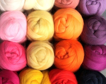 Merino wool top or roving Batch 2 colours