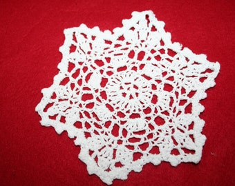 Vintage Hand Crocheted Doily- 5 inch