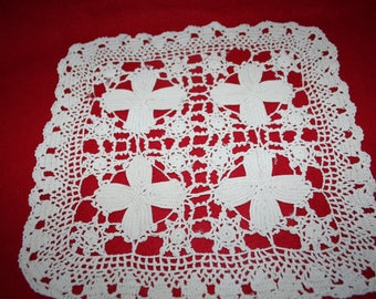 Vintage Hand Crocheted Doily-Square