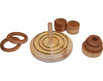 Ring Stacker Set (Montessori 4 in 1 Baby Toy)