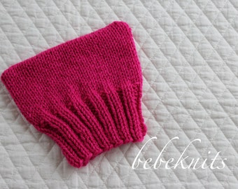 Hand Knit Pussycat Baby Hat