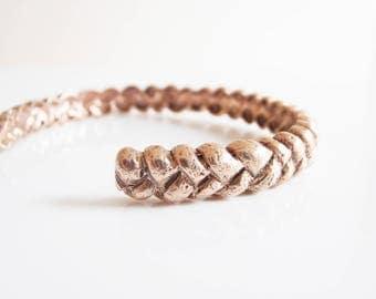 Rapunzel - handmade adjustable bronze bracelet