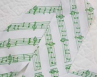 Music Notes vintage Scarf,Musical long Scarf