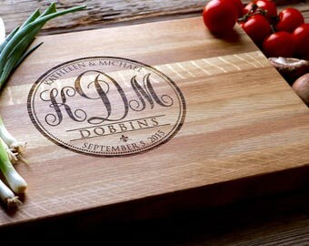 Personalized Chopping Block, 12x15, Engraved Chopping Block, Personalized Wedding Gift, Wedding Gift, Housewarming Gift, Anniversary Gift