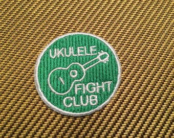 Ukulele Fight Club Embroidered Patch