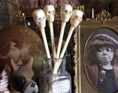 I'd Stick These Rhinestone Vintage Skull Sticks In My Hair Instead Of A Drink