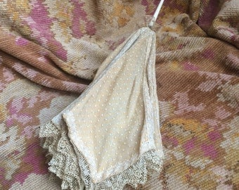 An Antique Child's Parasol That Had A Touch Of Lace And Grace
