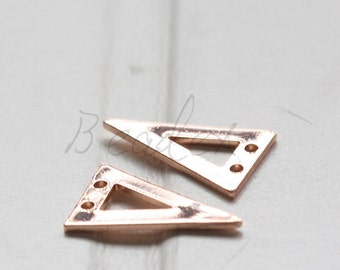 One Piece / Rose Gold Plated / Real Rose Gold / Brass Base / Geometry / Triangle / Arrow / Charm (C3073//I651)