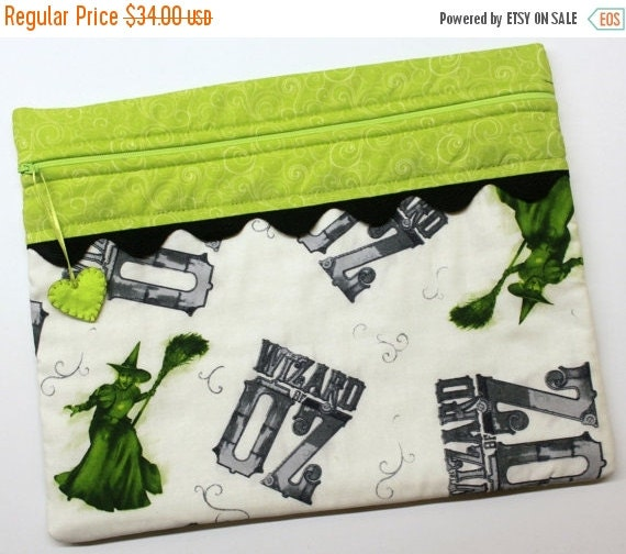 SALE Wicked Witch Wizard of Oz Cross Stitch Embroidery Project Bag