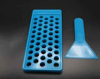 DIY Lip Balm Teal blue Filling Tray (Holds 50 Tubes .15 oz) Bottles and Tins brand