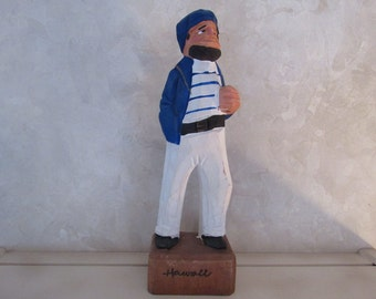 Vintage Nautical Sailor Handcarved Souvenir Hawaii Old Salt