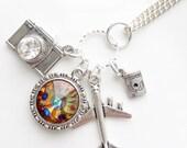 Explore Your World Swarovski Crystal Charm Necklace