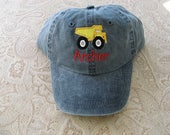 Toddler Youth  Baseball Hat Dump Truck  Baseball Cap Kids size Dump Truck Hat
