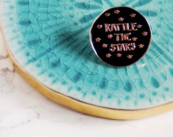 Rattle the Star.Enamel Pin. Lapel Pins. Pin Flare. Book Worm. Book Nerd. Book Lover. English teacher Gift