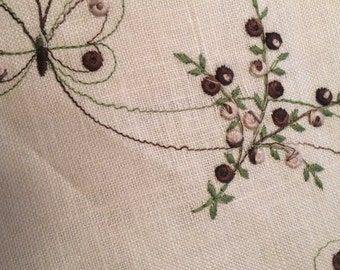 Linen tablecloth - Linen Card table cloth and napkins