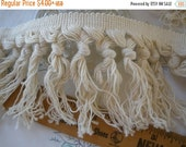 "Boho Macrame Fringe trim 3.75"" wide cotton blend knotted fringe twisted knots pattern retro BTY yards crafts costume"