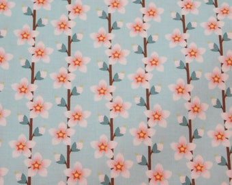 Quilting Fabric, By The Yard Fabric, Flower Fabric, In The Beginning Fabrics, Peach Blossom Collection, Sewing Craft Fabric, Novelty Fabric