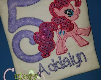Pink Pony Birthday Shirt