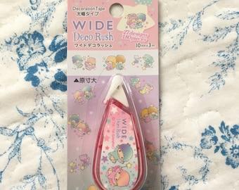 NEW WIDE deco Rush Sanrio Little Twin Stars
