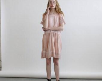 Summer Sale Eyelet Trim Party Dress ,Pink party dress, blush pink dress.
