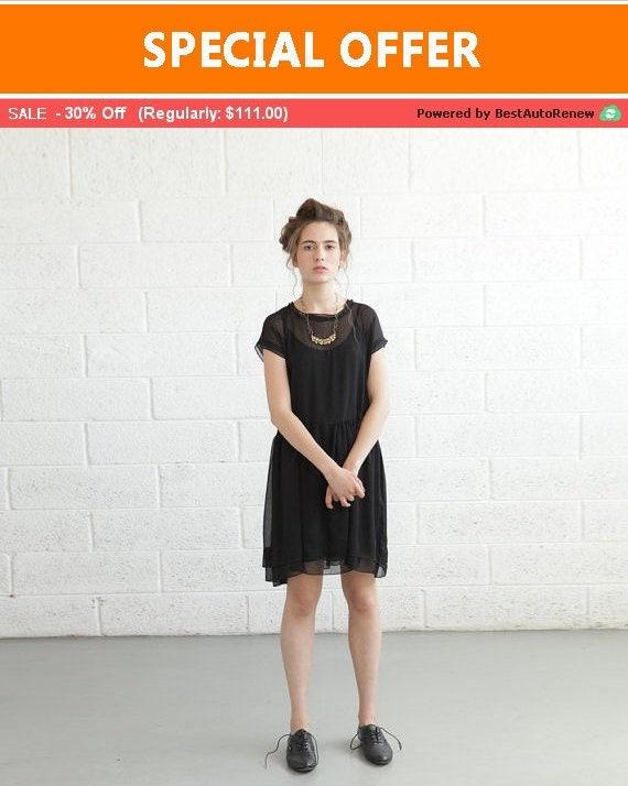 Pre Order 50 OFF Final SALE ***** Sheer Cocktail Dress - Black