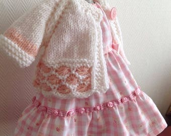 "Beautiful dress and cardigan for 20"" Waldorf Doll"
