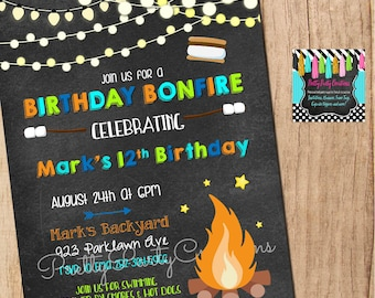 BONFIRE invitation - YOU Print