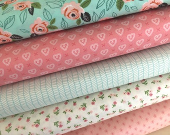 Sugar Pie Fabric Bundle of 5, Pick your Size of Bundle, by Lella Boutique of Moda Fabrics