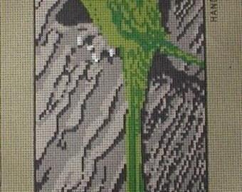 Superb Parrot Needlepoint Canvas NEW