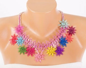 beaded crochet oya necklace bip necklace