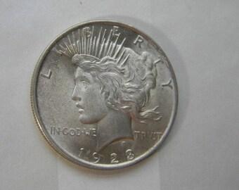 PEACE SILVER DOLLAR, 1923