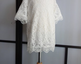ready to ship white girl lace dress size 2-4yr,flower girl,birthday,formal dress,