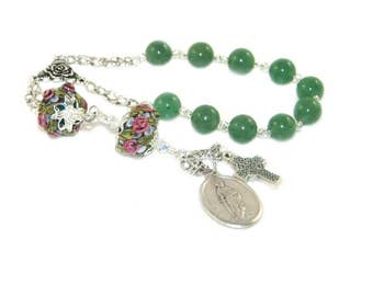 Saint Dymphna Pocket Rosary, Patron Saint of Runaways, Domestic Abuse & Psychological problems