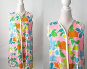RESERVED Do Not Buy ----- Vintage 1960s Cotton Floral House or Maternity Dress, Medium